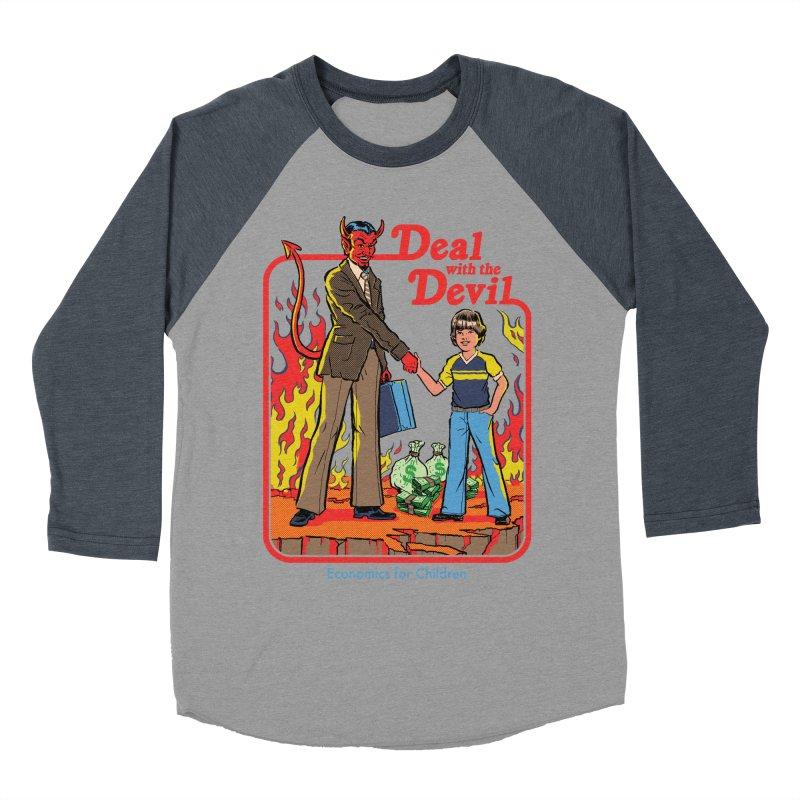 Deal with the Devil Women's Baseball Triblend Longsleeve T-Shirt by Steven Rhodes