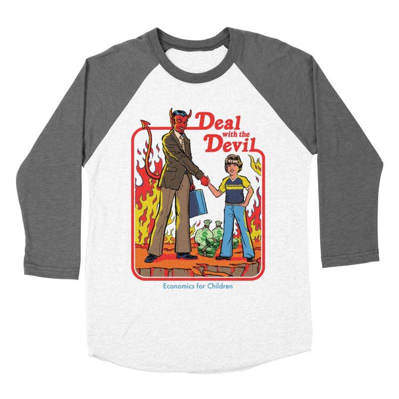 Deal with the Devil Men's Baseball Triblend Longsleeve T-Shirt by Steven Rhodes