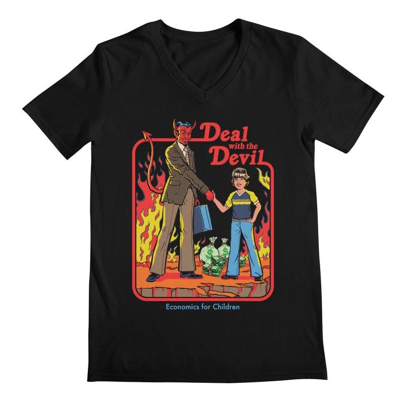 Deal with the Devil Men's Regular V-Neck by Steven Rhodes