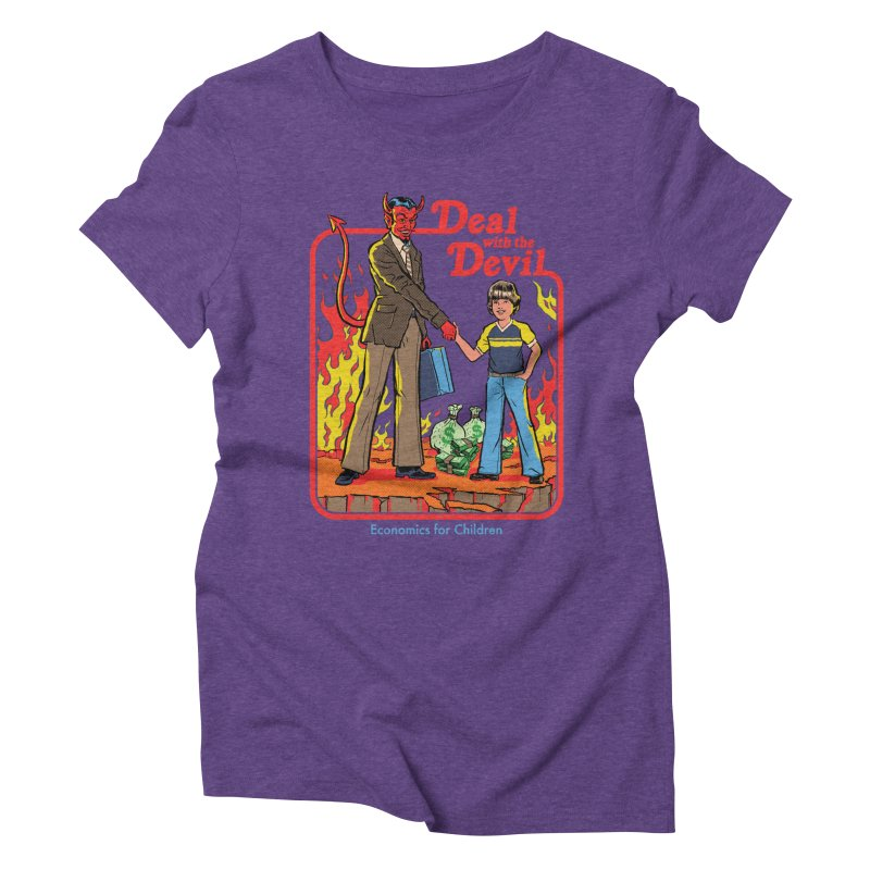 Deal with the Devil Women's Triblend T-Shirt by Steven Rhodes