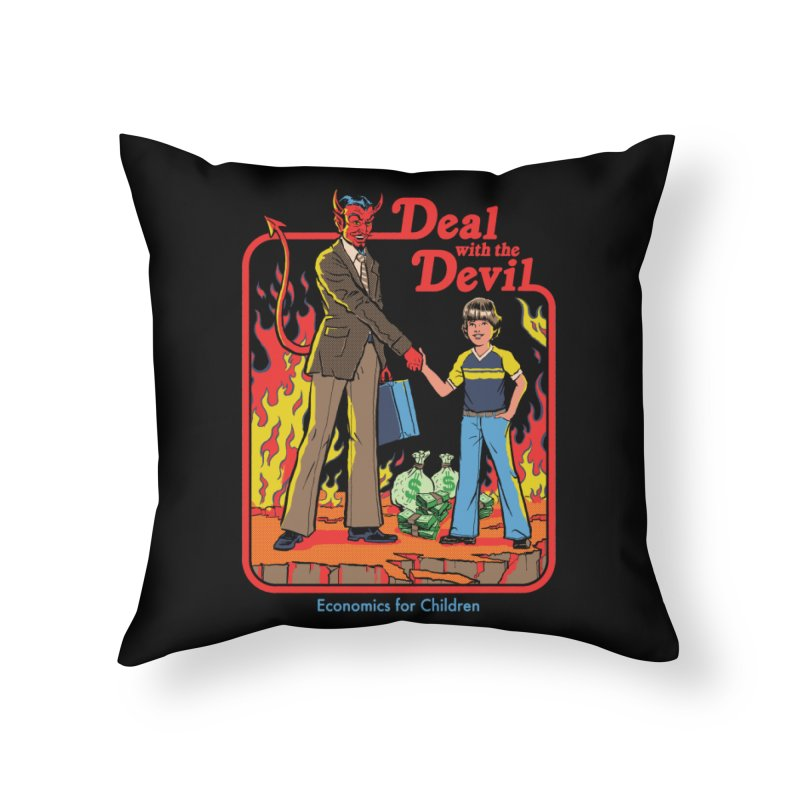 Deal with the Devil Home Throw Pillow by Steven Rhodes