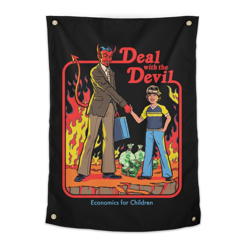 Deal with the Devil Home Tapestry by Steven Rhodes
