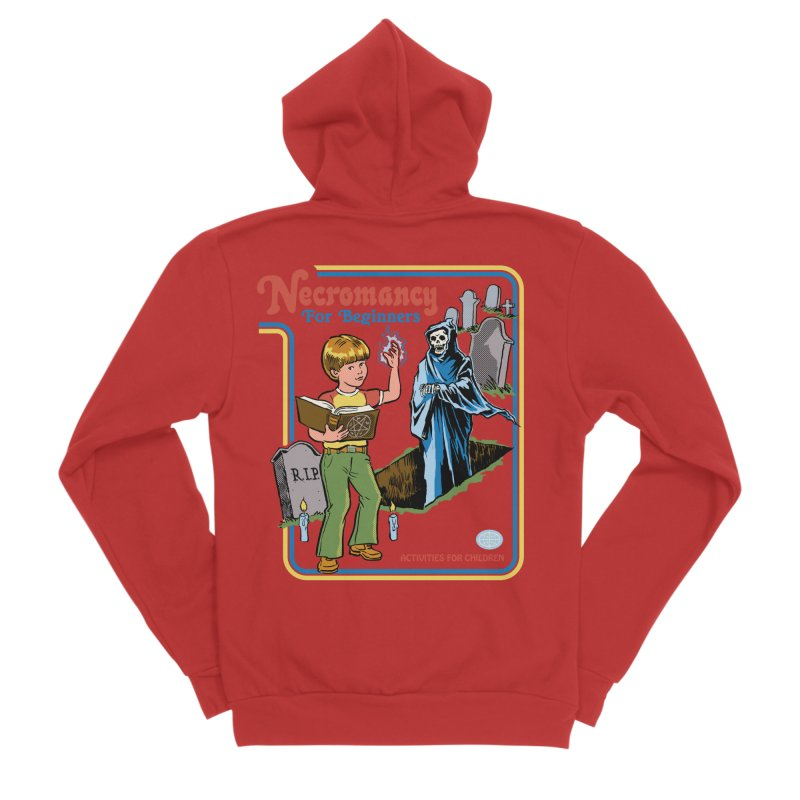 Necromancy for Beginners Women's Sponge Fleece Zip-Up Hoody by Steven Rhodes