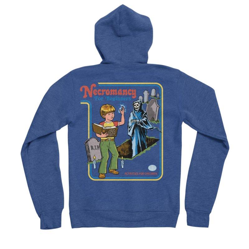 Necromancy for Beginners Men's Sponge Fleece Zip-Up Hoody by Steven Rhodes