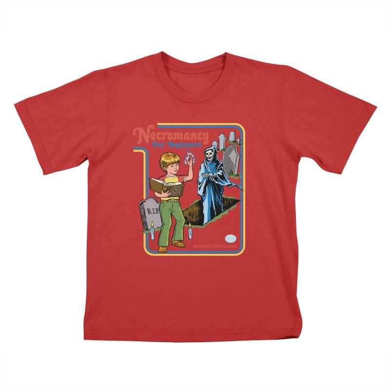 Necromancy for Beginners Kids T-Shirt by Steven Rhodes