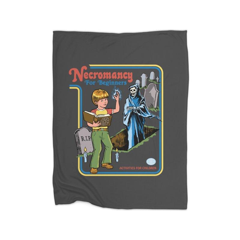 Necromancy for Beginners Home Blanket by Steven Rhodes