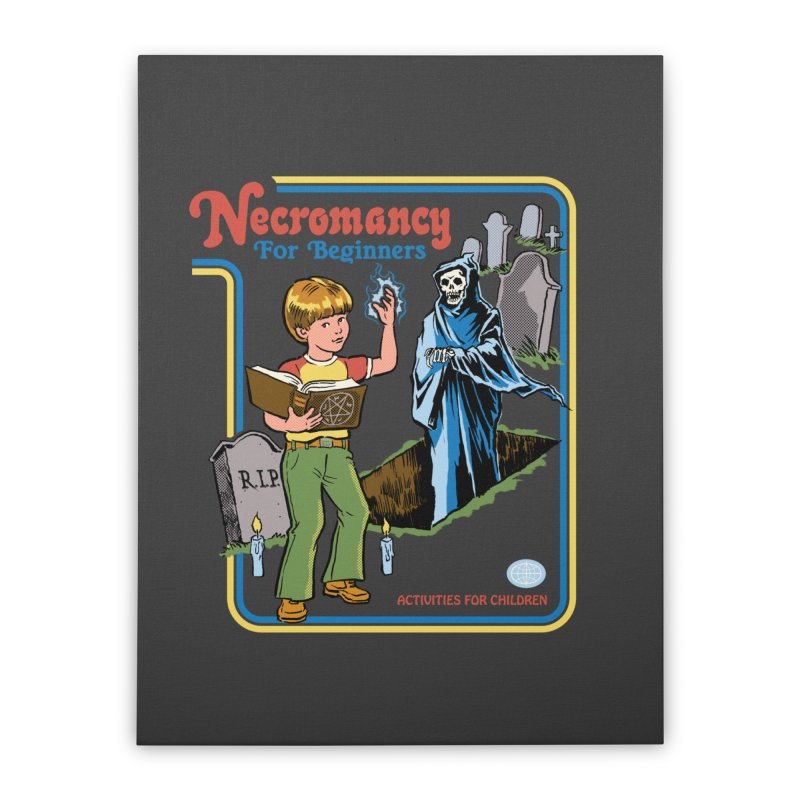 Necromancy for Beginners Home Stretched Canvas by Steven Rhodes