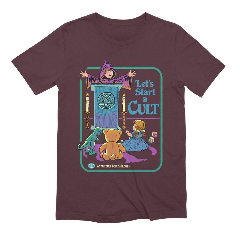 Let's Start a Cult Men's Extra Soft T-Shirt by Steven Rhodes