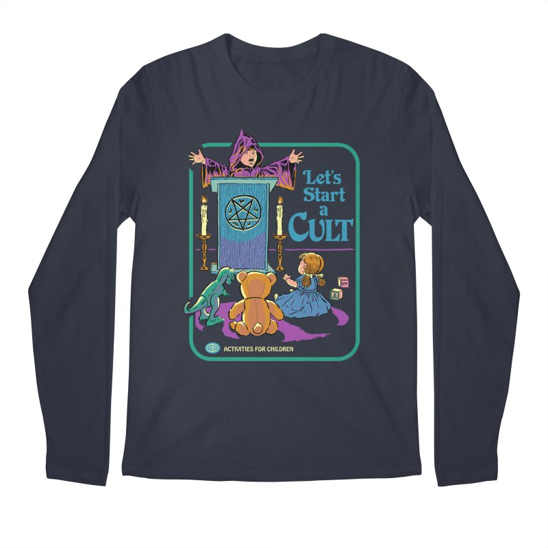 Let's Start a Cult Men's Regular Longsleeve T-Shirt by Steven Rhodes