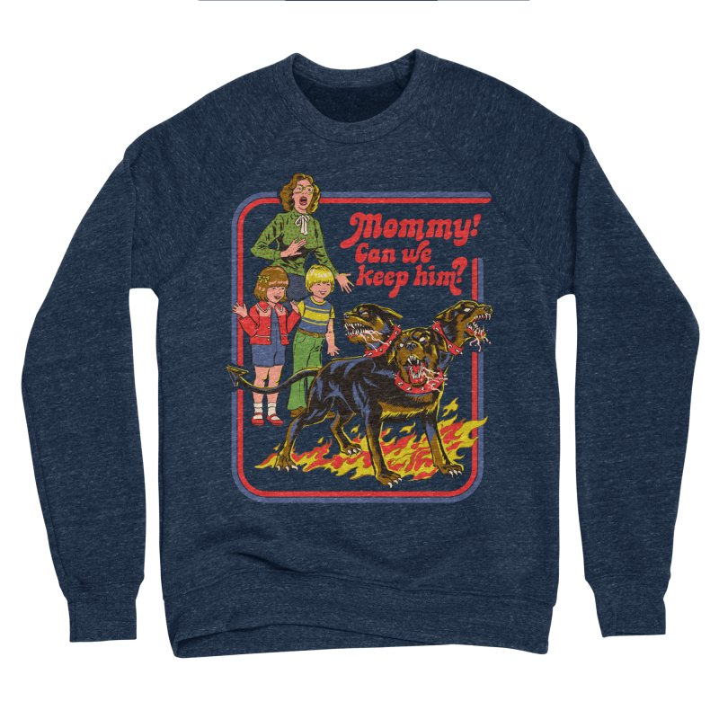 Cerberus Men's Sponge Fleece Sweatshirt by Steven Rhodes