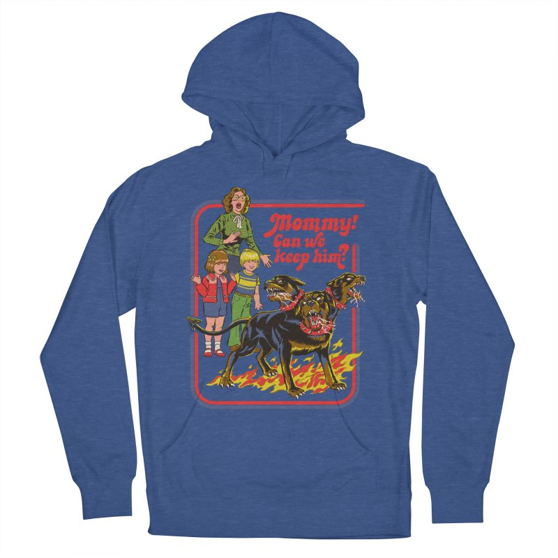 Cerberus Men's French Terry Pullover Hoody by Steven Rhodes