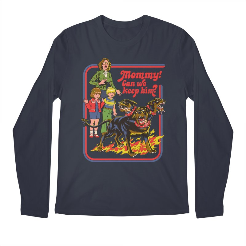 Cerberus Men's Regular Longsleeve T-Shirt by Steven Rhodes