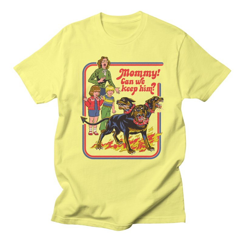 Cerberus Men's Regular T-Shirt by Steven Rhodes