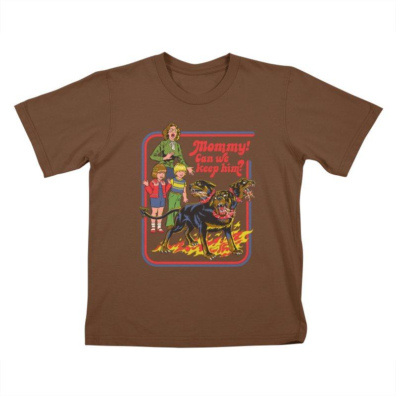Cerberus Kids T-Shirt by Steven Rhodes