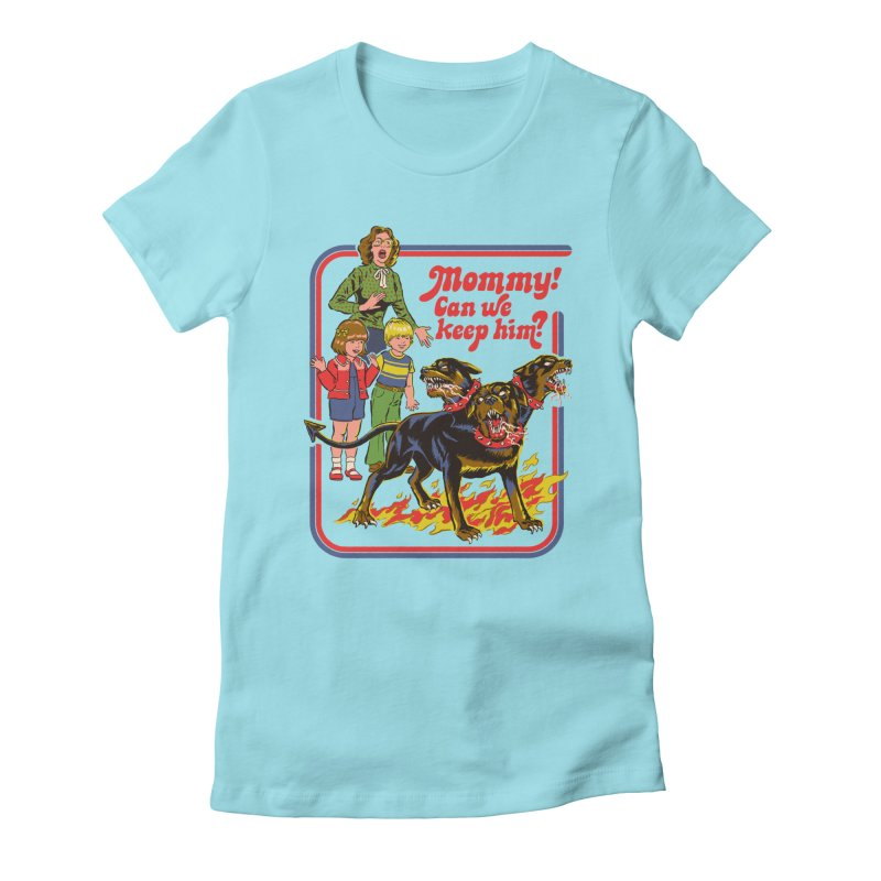 Cerberus Women's Fitted T-Shirt by Steven Rhodes