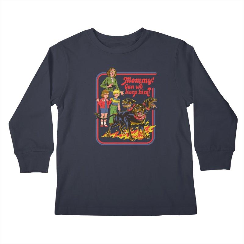 Cerberus Kids Longsleeve T-Shirt by Steven Rhodes