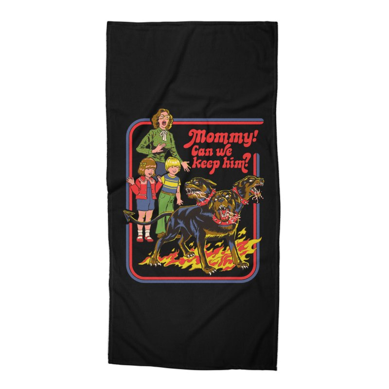 Cerberus Accessories Beach Towel by Steven Rhodes
