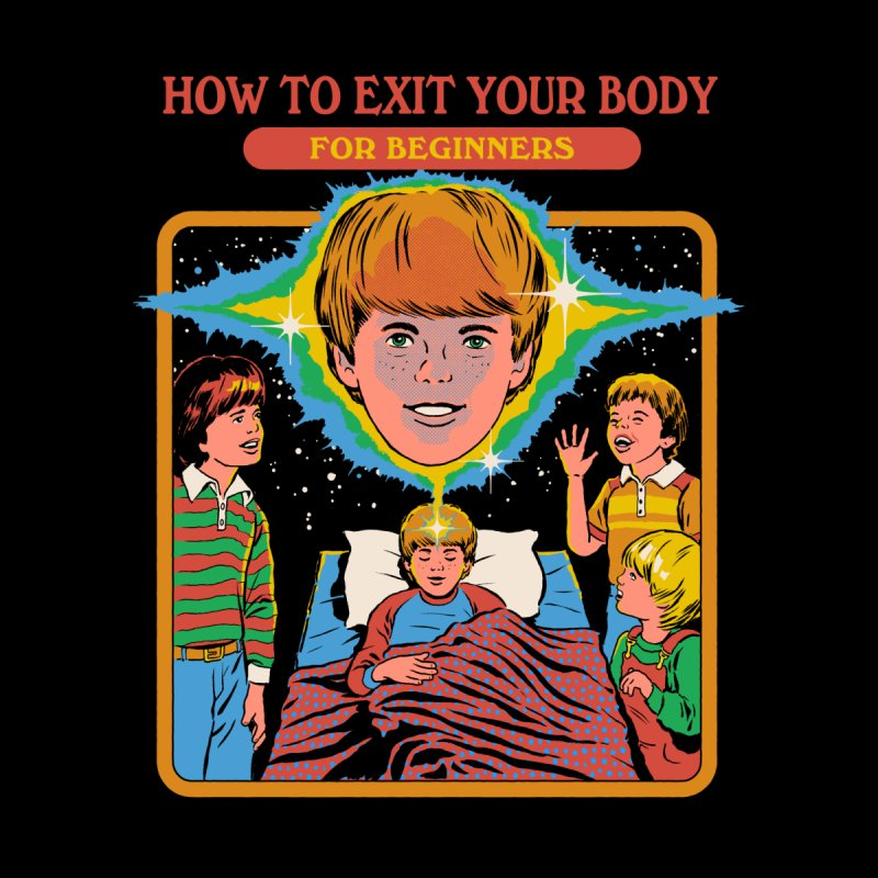 How to Exit Your Body Men's V-Neck by Steven Rhodes