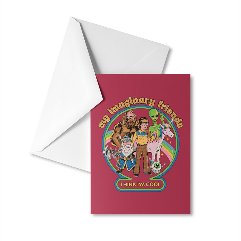 My Imaginary Friends Accessories Greeting Card by Steven Rhodes