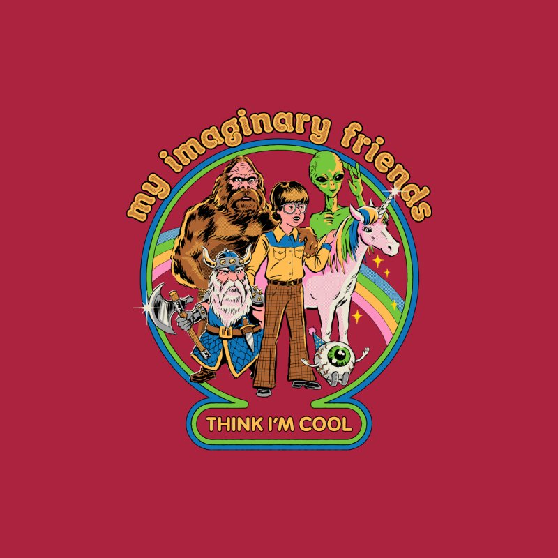 My Imaginary Friends Men's T-Shirt by Steven Rhodes