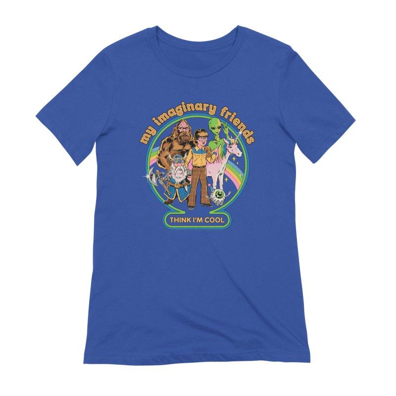 My Imaginary Friends Women's T-Shirt by Steven Rhodes
