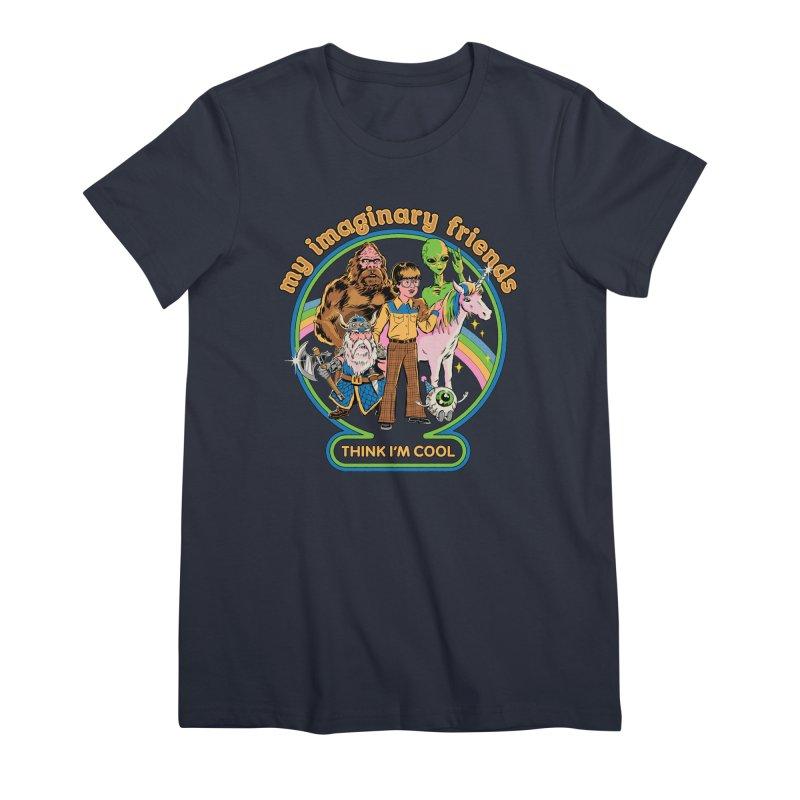 My Imaginary Friends Women's Premium T-Shirt by Steven Rhodes