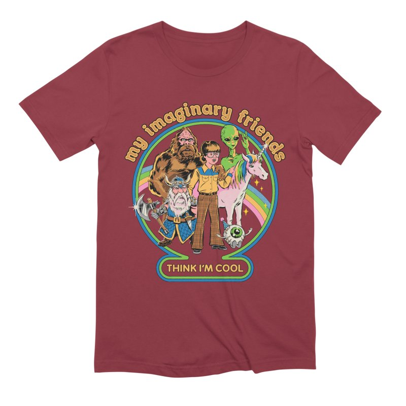 My Imaginary Friends Men's Extra Soft T-Shirt by Steven Rhodes