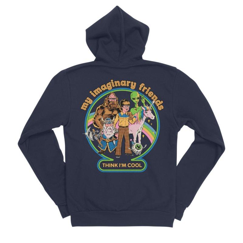 My Imaginary Friends Men's Sponge Fleece Zip-Up Hoody by Steven Rhodes