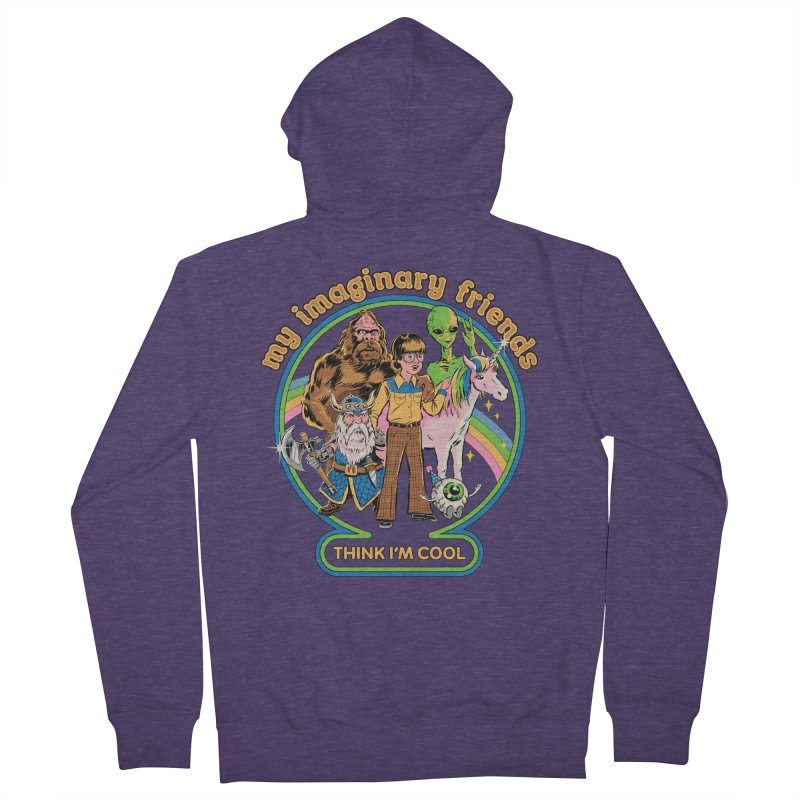 My Imaginary Friends Men's French Terry Zip-Up Hoody by Steven Rhodes
