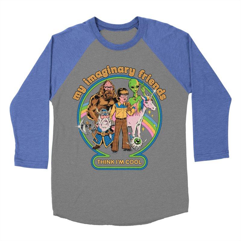 My Imaginary Friends Women's Baseball Triblend Longsleeve T-Shirt by Steven Rhodes