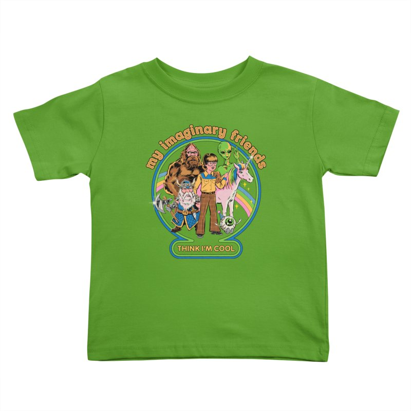 My Imaginary Friends Kids Toddler T-Shirt by Steven Rhodes