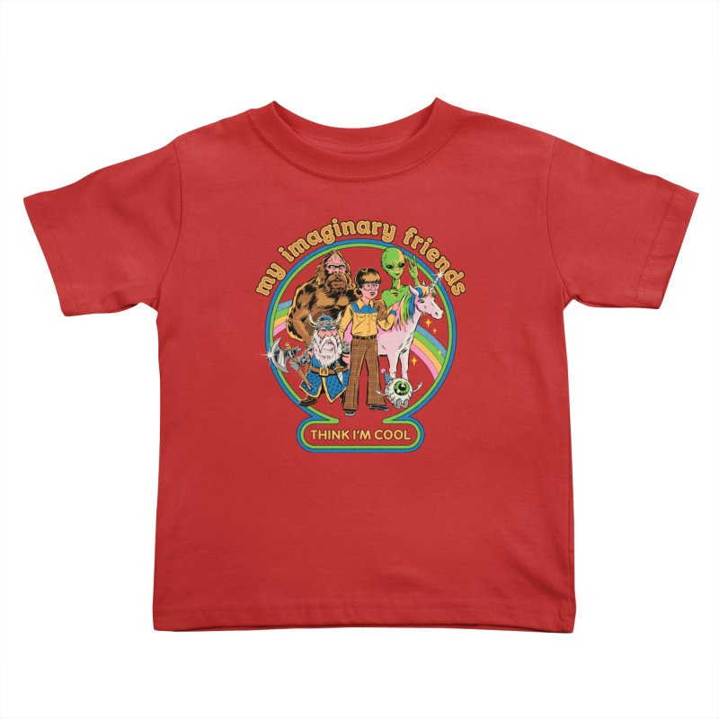 My Imaginary Friends Kids Toddler T-Shirt by Steven Rhodes