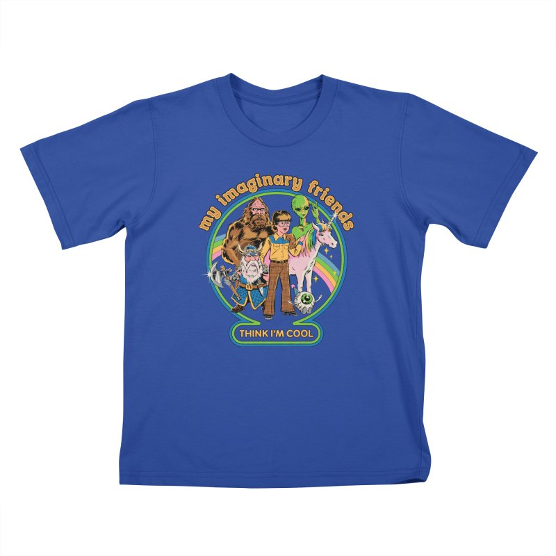 My Imaginary Friends Kids T-Shirt by Steven Rhodes