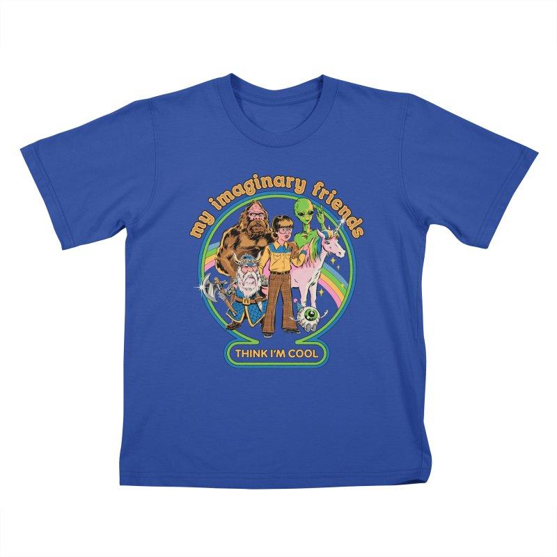 My Imaginary Friends Kids T-Shirt by Steven Rhodes