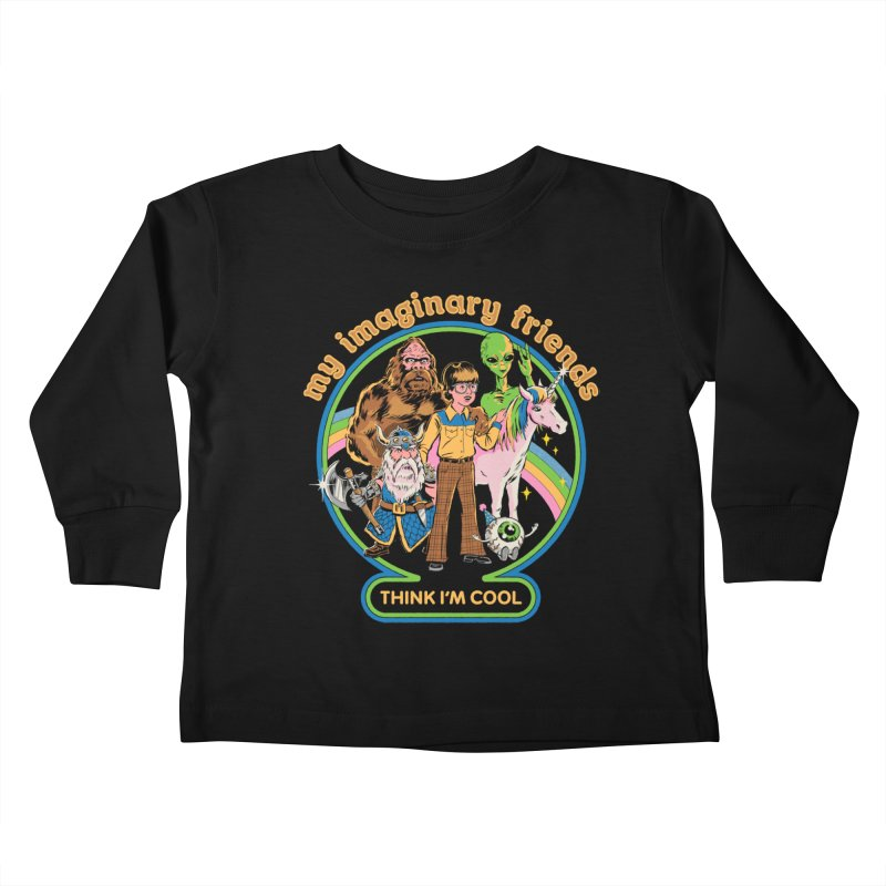 My Imaginary Friends Kids Toddler Longsleeve T-Shirt by Steven Rhodes