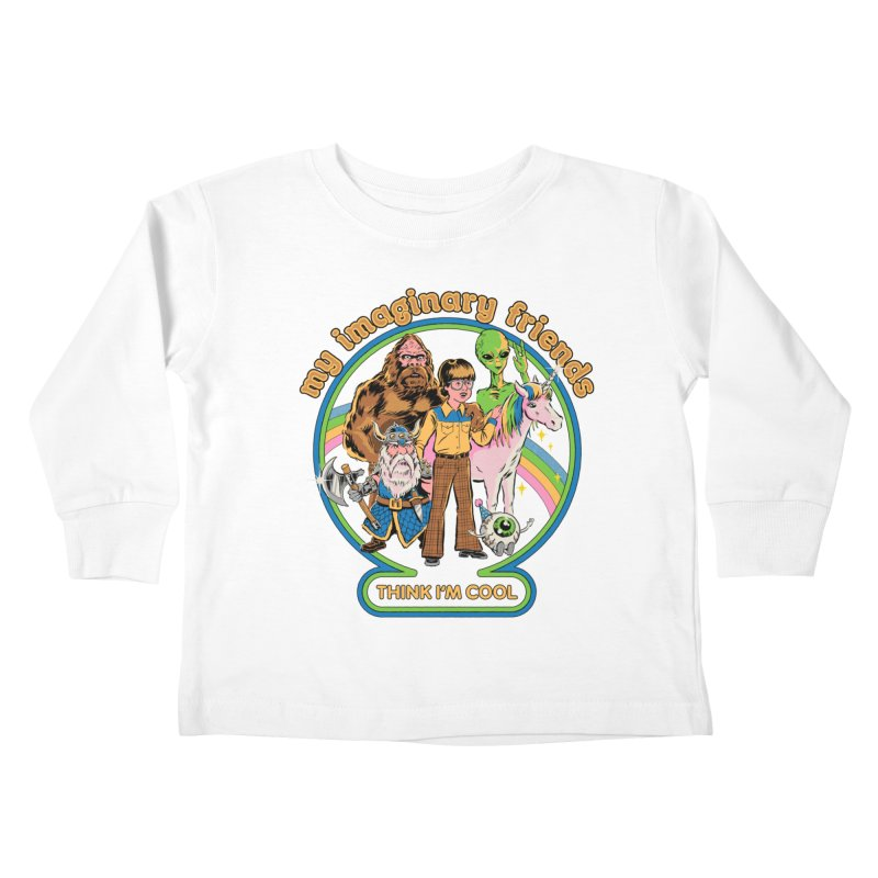 My Imaginary Friends Kids Toddler Longsleeve T-Shirt by Steven Rhodes
