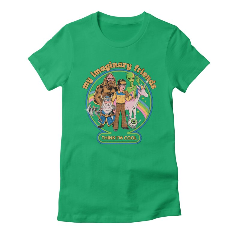 My Imaginary Friends Women's Fitted T-Shirt by Steven Rhodes