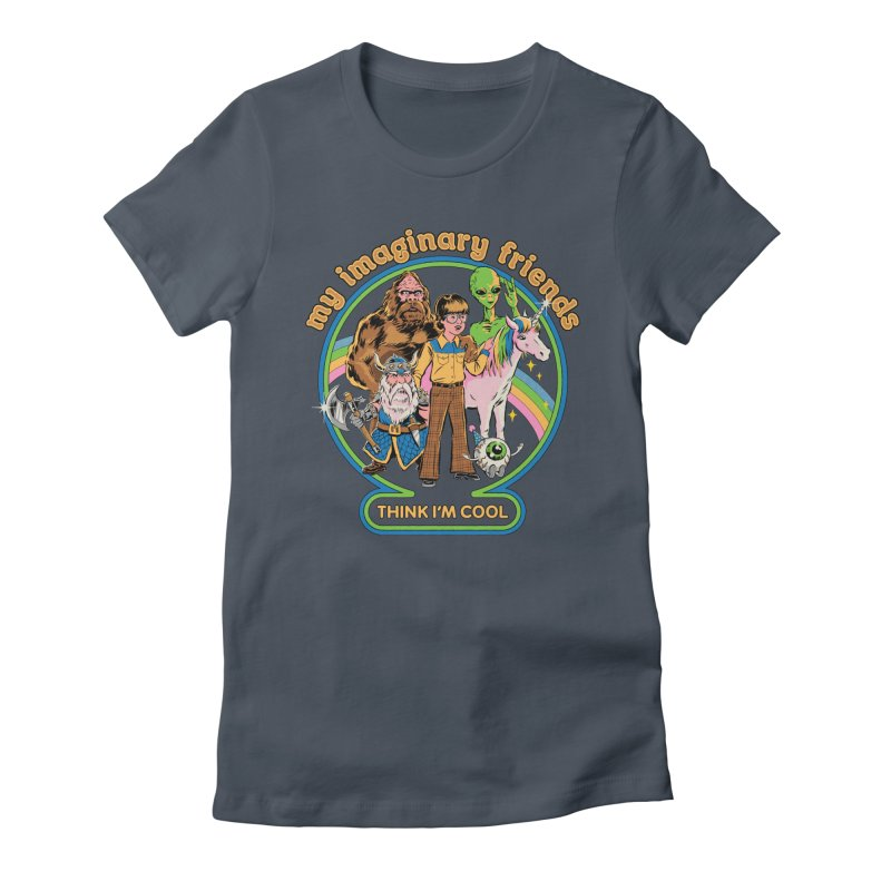 My Imaginary Friends Women's T-Shirt by Steven Rhodes