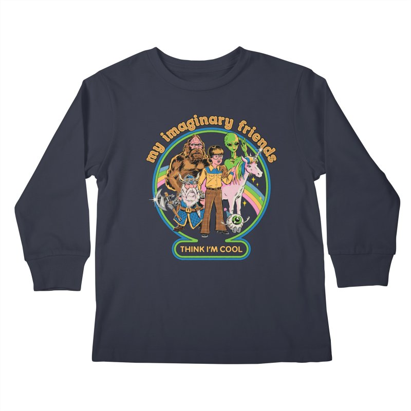 My Imaginary Friends Kids Longsleeve T-Shirt by Steven Rhodes