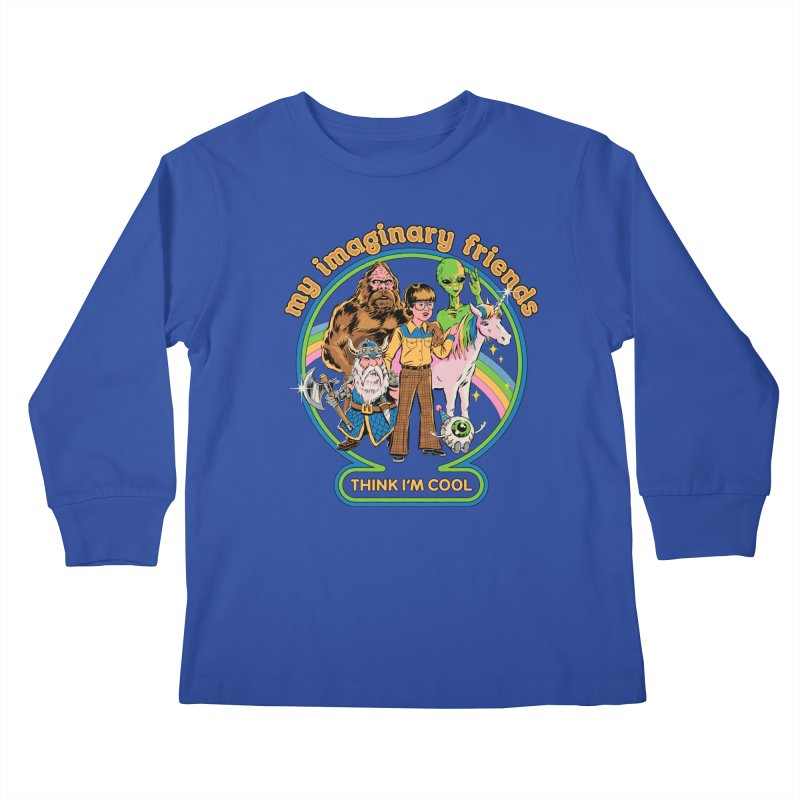 My Imaginary Friends Kids Longsleeve T-Shirt by Steven Rhodes
