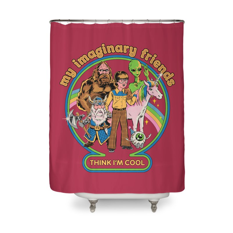My Imaginary Friends Home Shower Curtain by Steven Rhodes