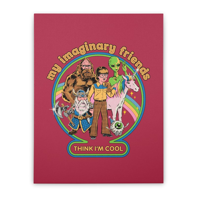 My Imaginary Friends Home Stretched Canvas by Steven Rhodes