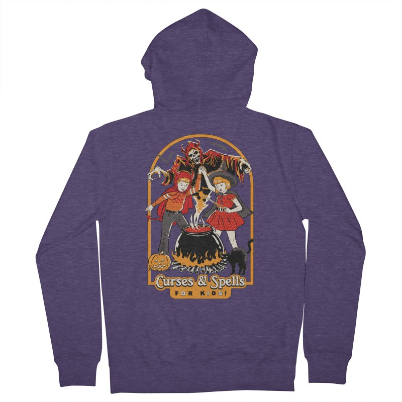 Curses & Spells Men's French Terry Zip-Up Hoody by Steven Rhodes