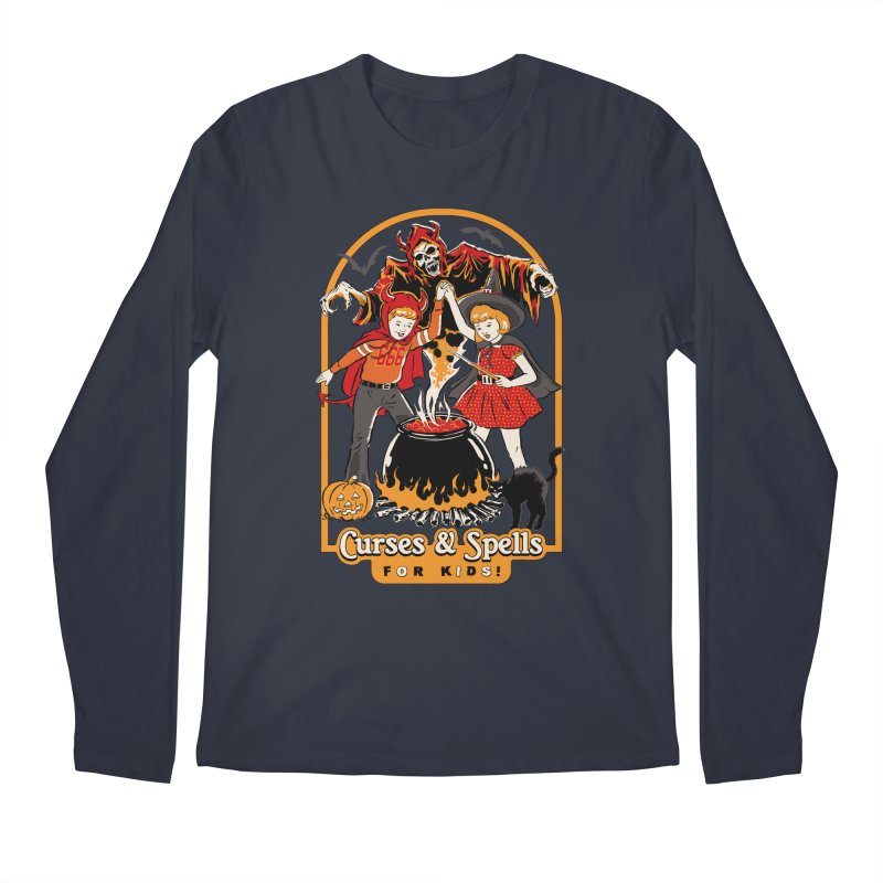 Curses & Spells Men's Regular Longsleeve T-Shirt by Steven Rhodes