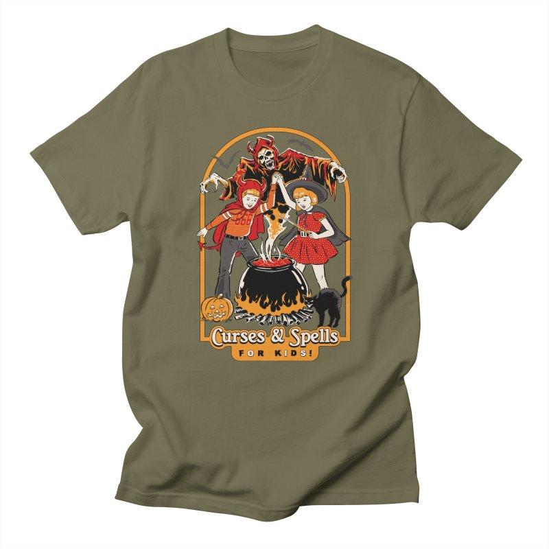 Curses & Spells Men's Regular T-Shirt by Steven Rhodes