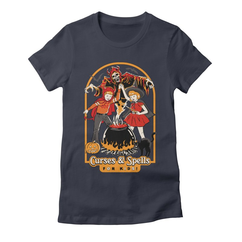 Curses & Spells Women's Fitted T-Shirt by Steven Rhodes