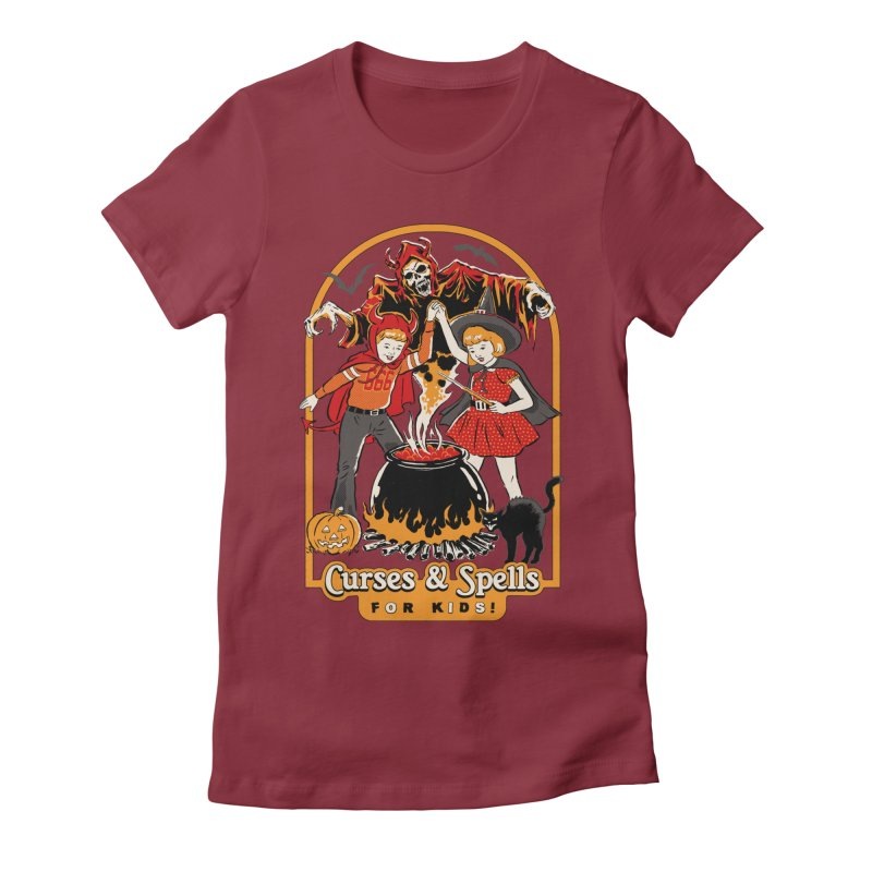 Curses & Spells Women's Fitted T-Shirt by Steven Rhodes