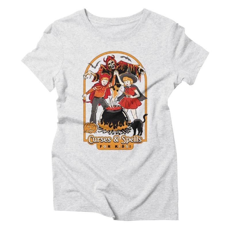 Curses & Spells Women's Triblend T-Shirt by Steven Rhodes