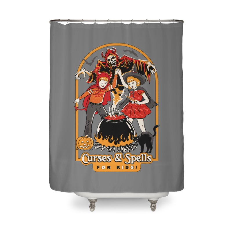 Curses & Spells Home Shower Curtain by Steven Rhodes