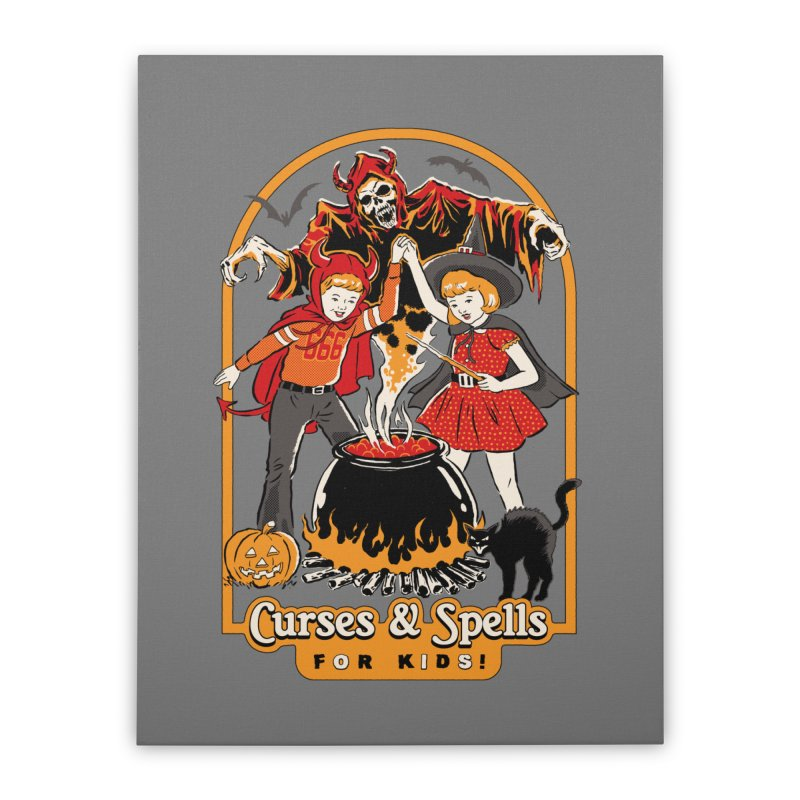 Curses & Spells Home Stretched Canvas by Steven Rhodes